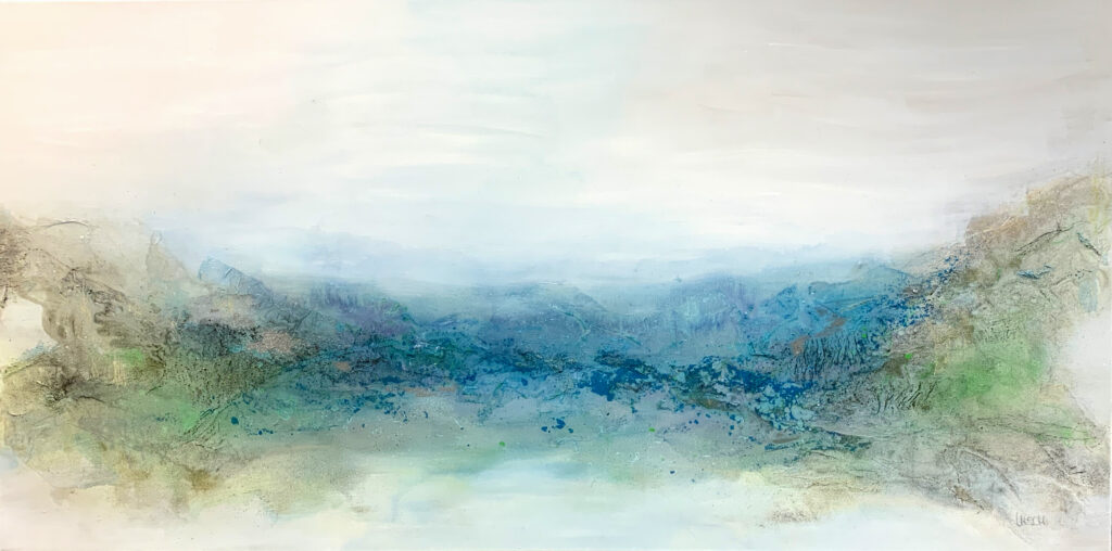 Oceanside #1 I mixed media on canvas I 80 x 160 cm