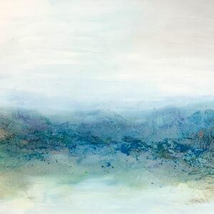 Oceanside #1 I mixed media on canvas I 80 x 160 cm