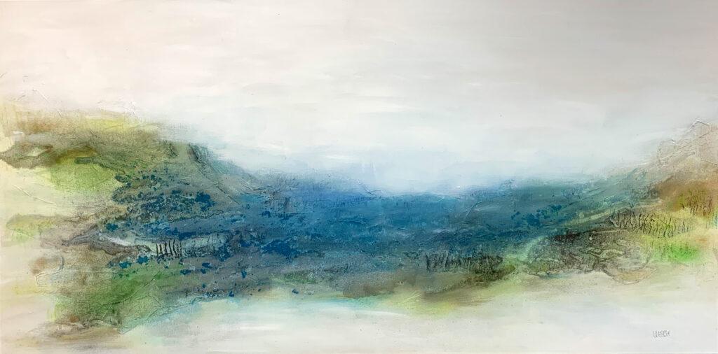 Oceanside #2 I mixed media on canvas I 80 x 160 cm