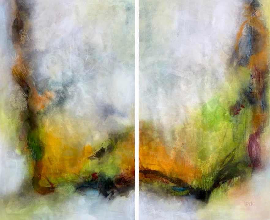 The journey of life I acrylic on canvas I 130 x 180 cm (set of 2)