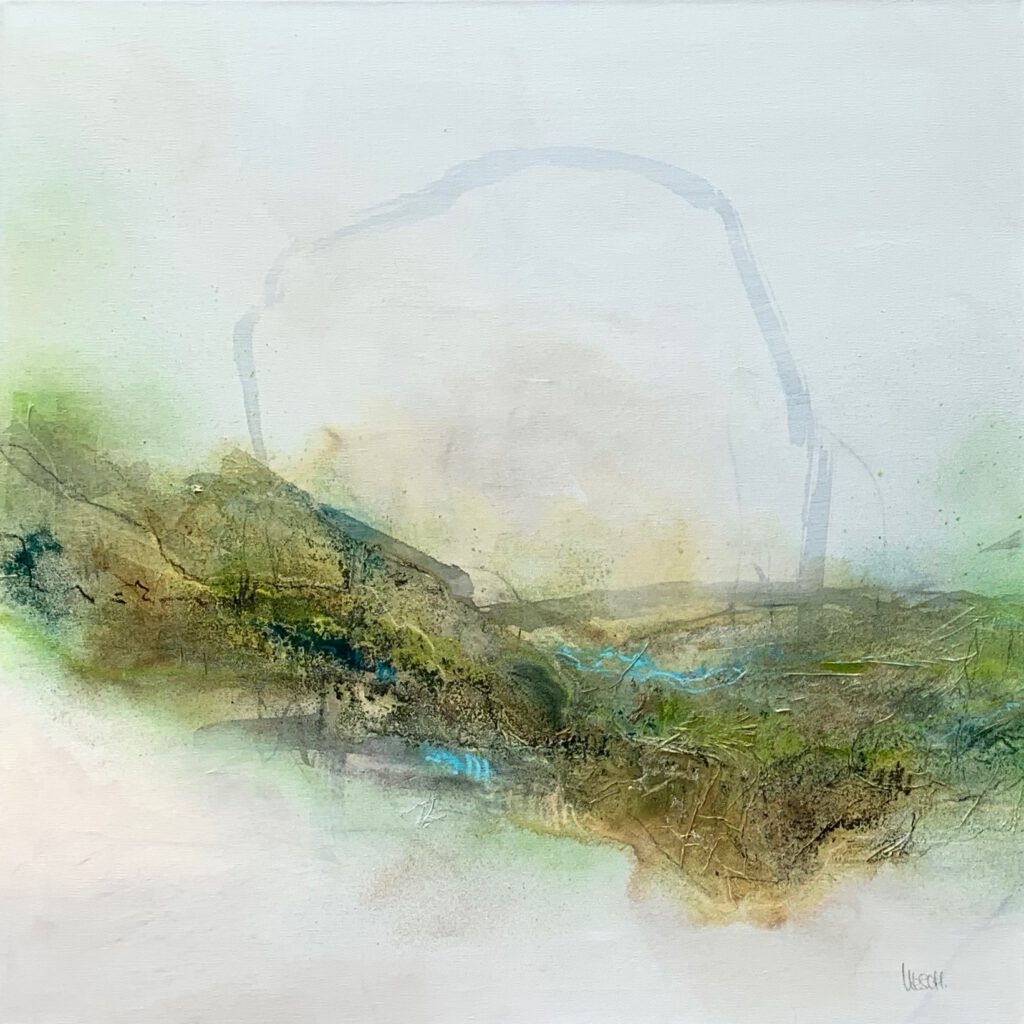 Caught up in the country #1 - Mixed media on canvas - 80 x 80 cm