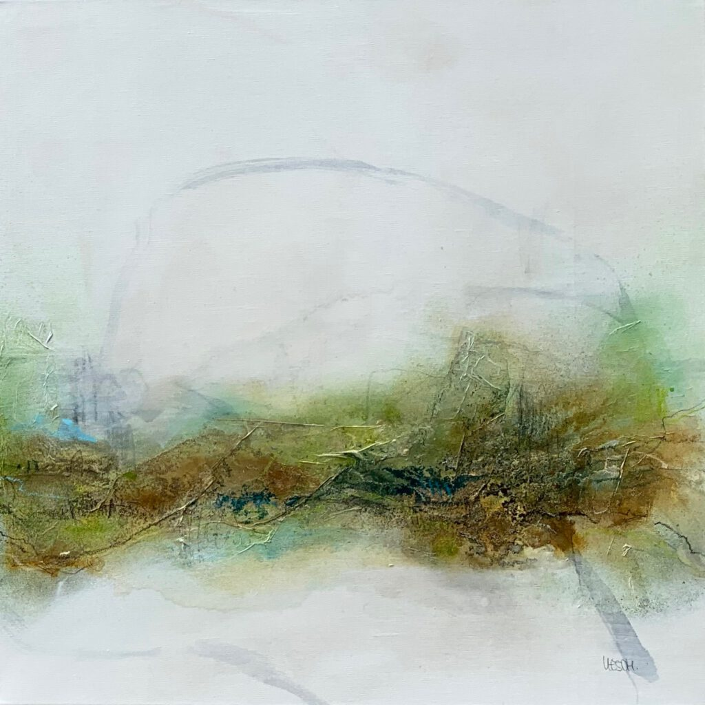 Caught up in the country #2 - Mixed media on canvas - 80 x 80 cm