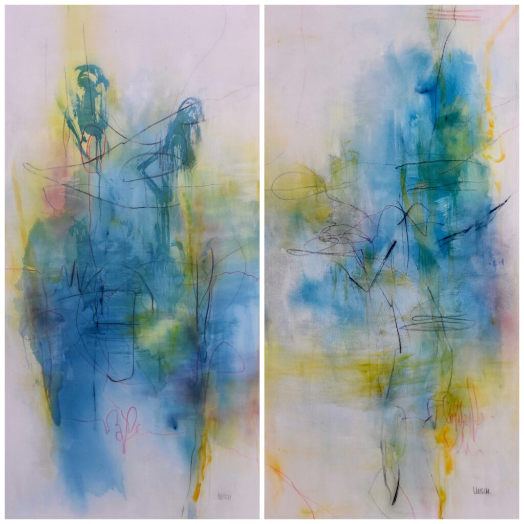 Back to nature I acrylic on canvas I 160 x 160 cm (set of 2)