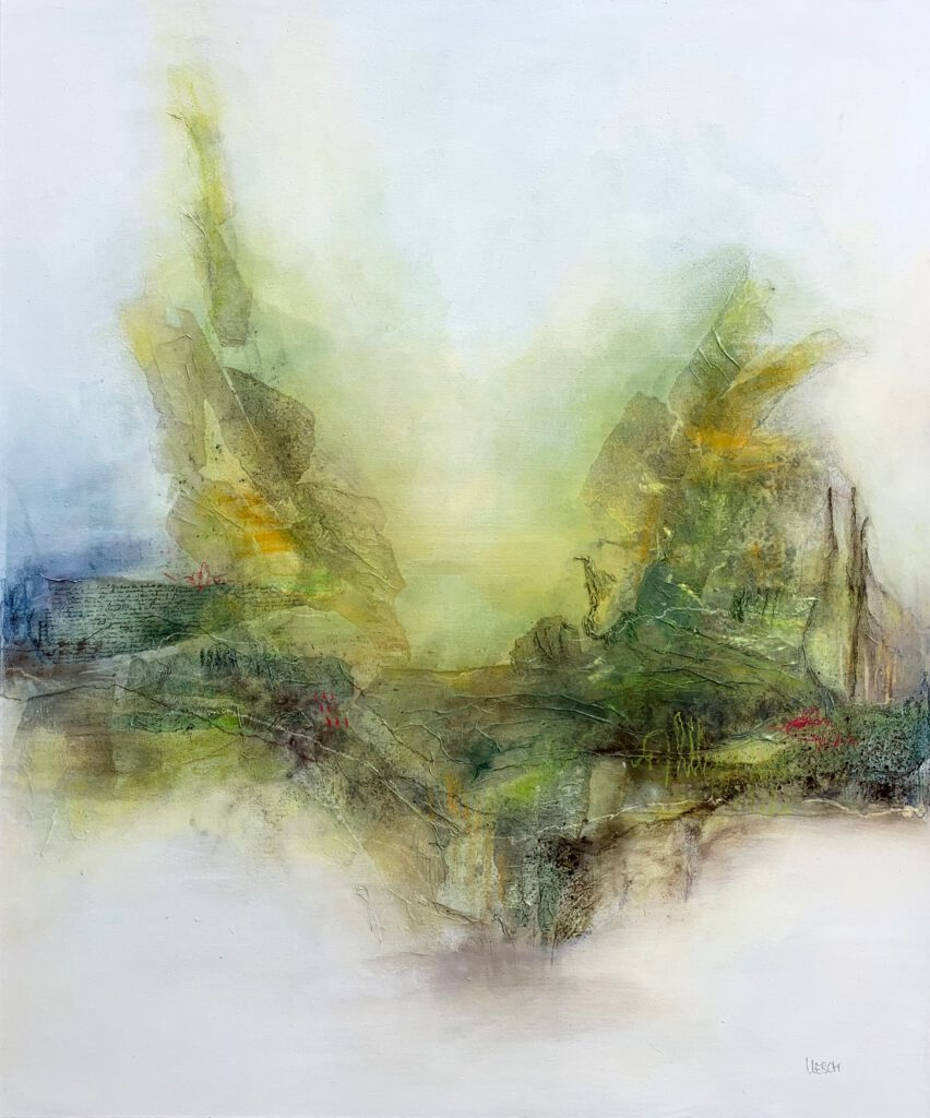 The gateway to nature stands open wide I Mixed media on canvas I 120 x 100 cm