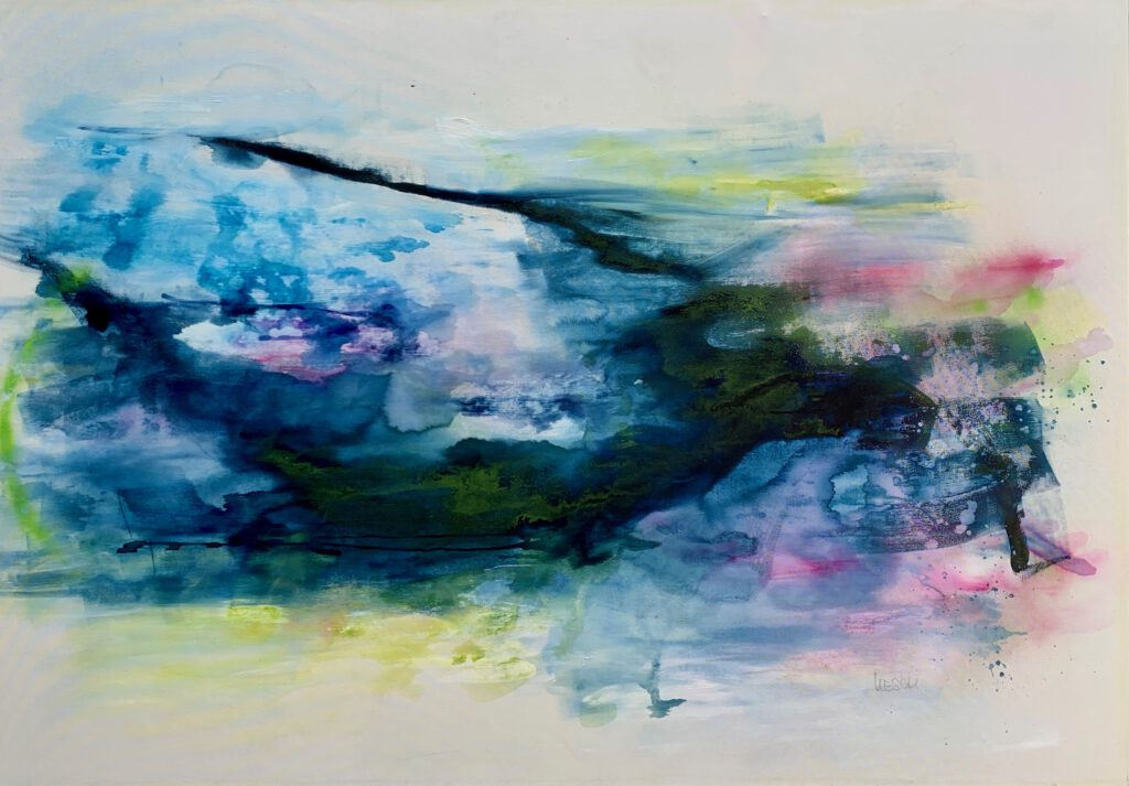 Dive deep I - Acryl auf Leinwand - 140 x 200 cm