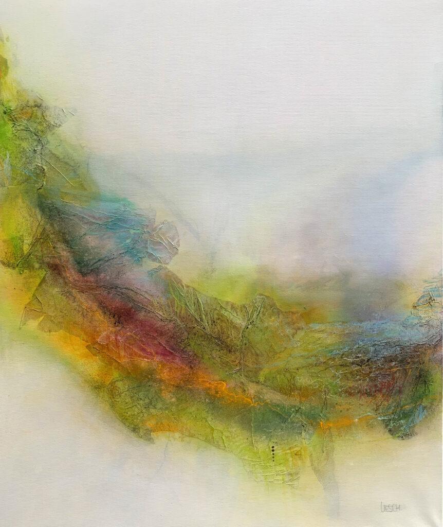 Im Frühling - Mischtechnik auf Leinwand - 120 x 100 cm