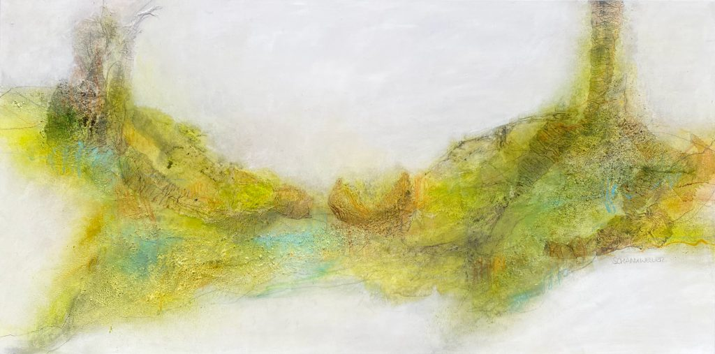 Longing for Spring - Mixed media on canvas - 60 x 120 cm